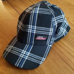 Dickies hat with curved bill, plaid design